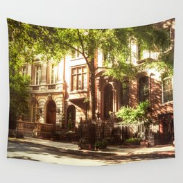 New York City Brownstones Wall Tapestry