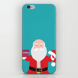 Have a A delightful cup of Christmas with Santa Claus iPhone Skin