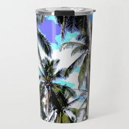 Palm Trees in a Posterised Design Travel Mug