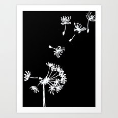 Dandelion 2 Drawing Art Print