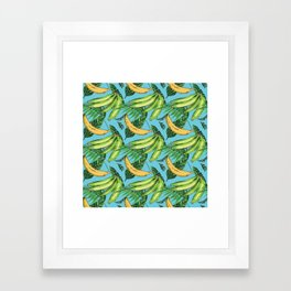 Plantain Paradise Pattern - For true plantain fans Framed Art Print