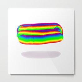 Rainbow Floatie Metal Print