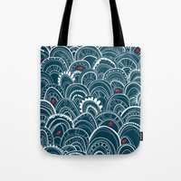 sailing Tote Bags featuring sailing by Pardabon