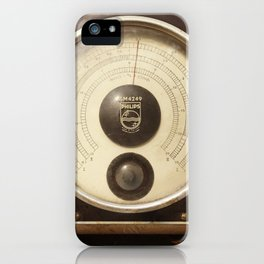 VINTAGE KNOBS AND NEEDLES iPhone Case