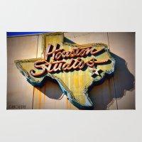 houston Area & Throw Rugs featuring Houston Studios by Rachael Holliday