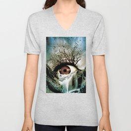 Cascade Crying Eye Unisex V-Neck