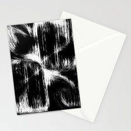 leaft blanc noir Stationery Cards