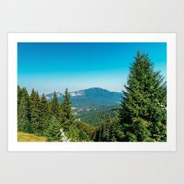 Mountains Landscape, Travel, Summer Landscape, Transylvania Mountains, Forests Of Romania Art Print