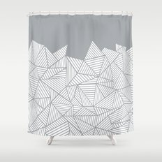 Abstract Mountain Grey Shower Curtain