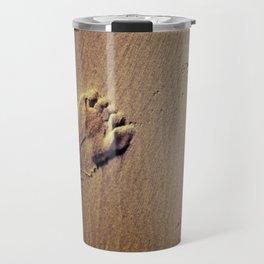Feet on Sand-Brown Travel Mug
