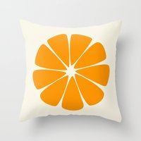 agnes cecile Throw Pillows featuring Cecile by LHD2