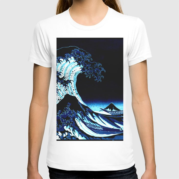 the Great Wave blue T-shirt