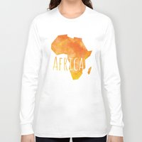 africa Long Sleeve T-shirts featuring Africa by Stephanie Wittenburg