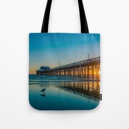 Newport Sunset Seagulls Tote Bag
