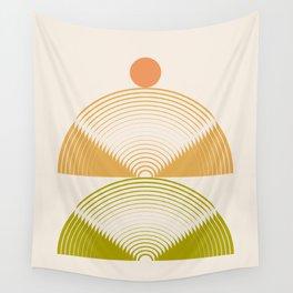 Abstraction_Mountains_Radius_Art_Minimalism_001 Wall Tapestry
