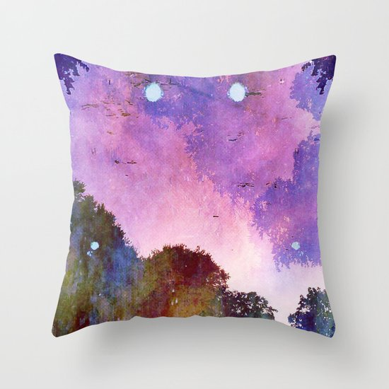 Two eyes Throw Pillow