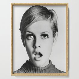 Twiggy, Home Decor, Celebrity Print, Print, Gift for her, Vintage Poster, Serving Tray