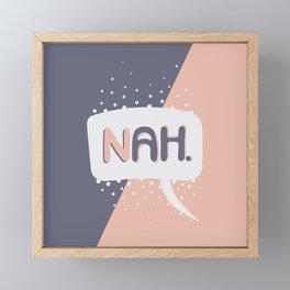 NAH. Pink & Grey Framed Mini Art Print