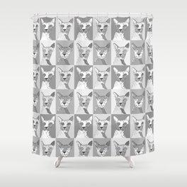 Grey Hairless Cats Shower Curtain