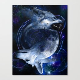 Two Wolves Canvas Print
