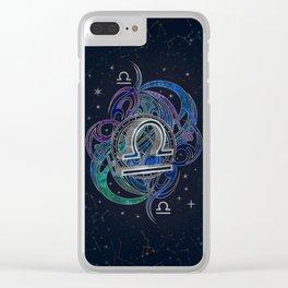 Libra Zodiac Sign Air Element Clear iPhone Case