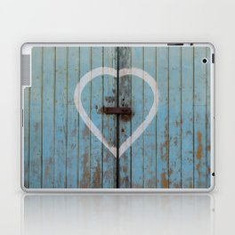 Rustic Blue Heart Laptop & iPad Skin