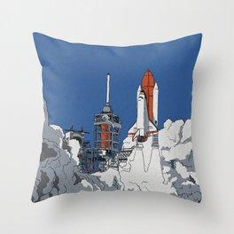 Last Launch Throw Pillow