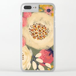Green Berries Clear iPhone Case
