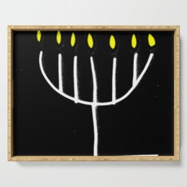 menorah,Hanukkah,jewish,jew,judaism,Festival ofLights,Dedication,jerusalem,lampstand,Temple Serving Tray