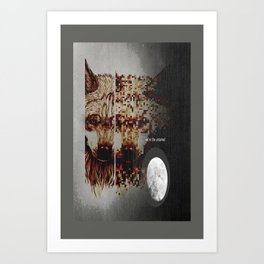 Alpha Moon Art Print