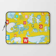 Yellow Alphabet Laptop Sleeve