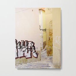 STAIRS IN ALFAMA - LISBON  Metal Print
