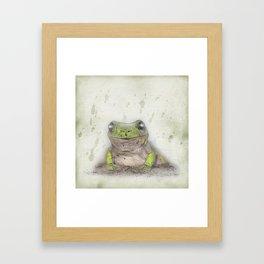 Jeremiah was a bullfrog Framed Art Print