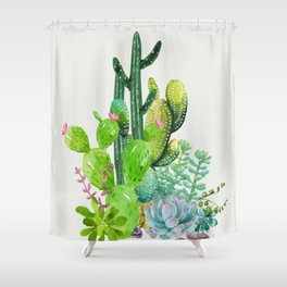 Cactus Garden II Shower Curtain