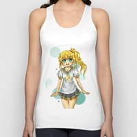 vocaloid Tank Tops featuring Lenka (fanart) by jannaj