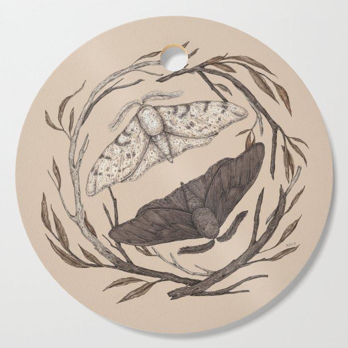 Peppered Moths Cutting Board
