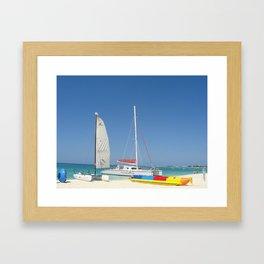 Sailing the Caribbean  Framed Art Print