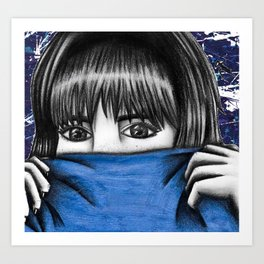 Bashful 70s Girl Art Print