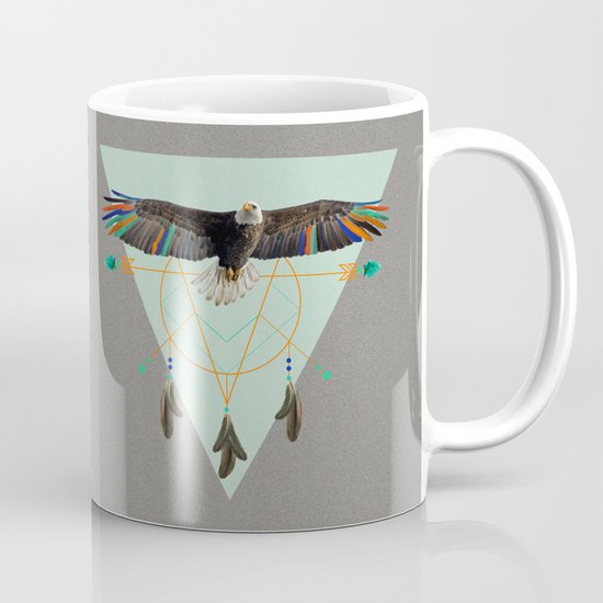 The indian eagle is watching over Po's dreamcatcher Mug