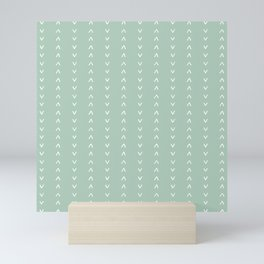 Soft Mint Arrow Pattern Mini Art Print