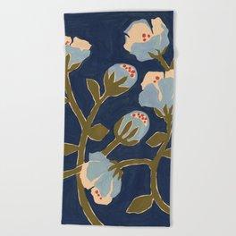 Blue Perennial Beach Towel