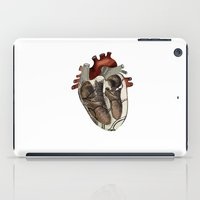 anatomical heart iPad Cases featuring Anatomical Heart  by Whoosh