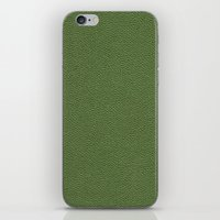 book cover iPhone & iPod Skins featuring Green Book Cover by Becky Nimoy