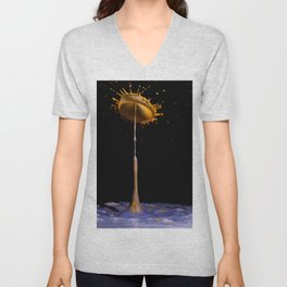 Abstract Flower 2 Unisex V-Neck
