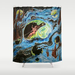 Ethereal Star Shower Curtain