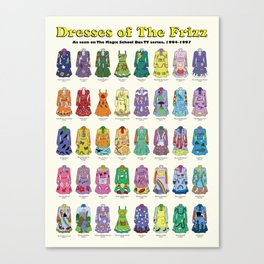 Dresses of The Frizz Canvas Print