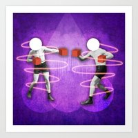 boxing Art Prints featuring Boxing by Caroline David