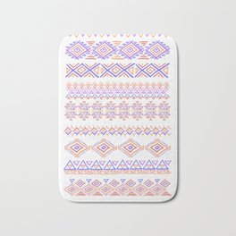 abstract geometric line patterns Bath Mat