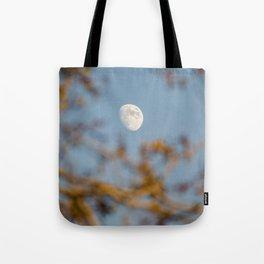 Moon Through the Trees Tote Bag