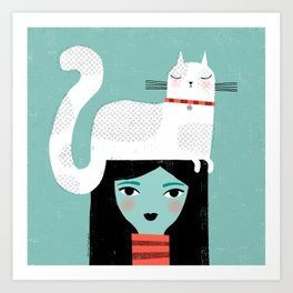 CAT ATTITUDE Art Print